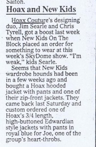 HOAX COUTURE TORONTO STAR 13 12 1990