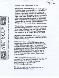 MARILYN BROOKS 2003