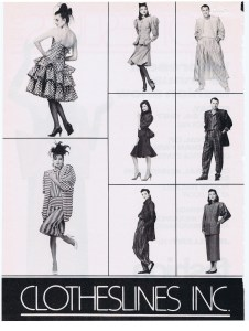 CLOTHESLINES FASHION APRIL 1987
