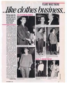 CLOTHESLINES FLARE DEC 1984