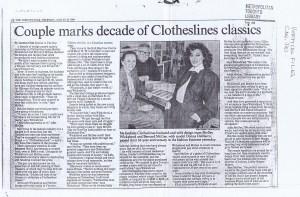 CLOTHESLINES TORONTO STAR 25.08.1988