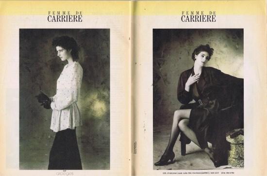 FEMME DE CARRIERE FLARE DECEMBER 1986