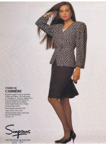 SANDRA  ANGELOZZI FASHION NOV 1987