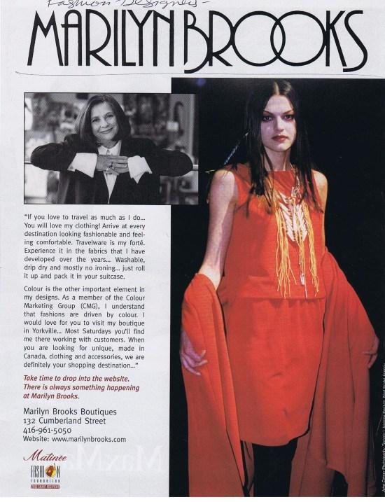 MARILYN BROOKS FASHION SEPTEMBER 2000