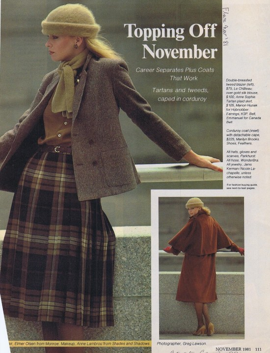 MARILYN BROOKS (LOWER) FLARE NOVEMBER 1981