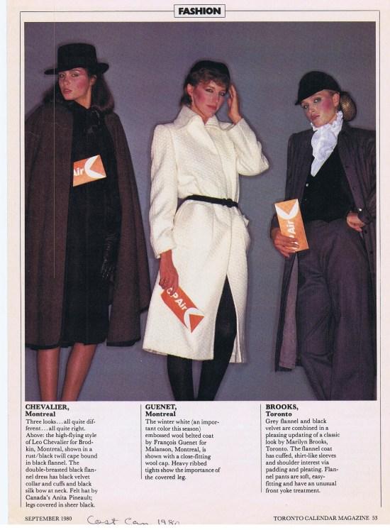 MARILYN BROOKS (RIGHT) TORONTO CALENDAR SEPTEMBER 1980