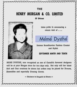 MEME DYSTHE OTTAWA CITIZEN SEPT 8 1960