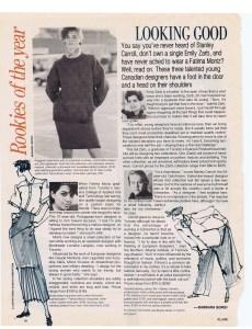 EMILY ZARB FLARE FEB 1985