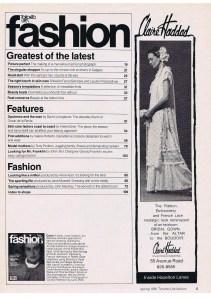 CLAIRE HADDAD FASHION SPRING 1981
