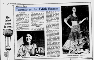 EDITH STRAUSS MONTREAL GAZETTE 1971