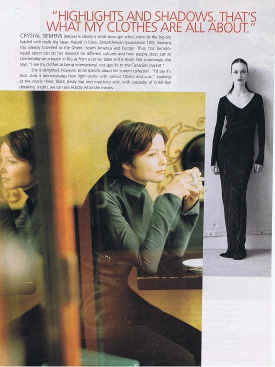 CRYSTAL SIEMENS FASHION SEPTEMBER 1998