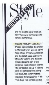 HILARY RADLEY FLARE SEPT 1999