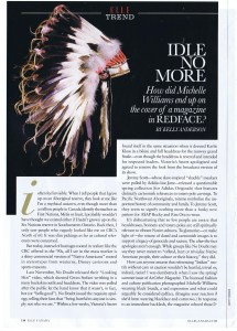 COMMENTARY  ELLE CANADA  JUNE 2013