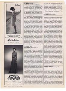 ALFRED SUNG FASHION  WINTER 1987