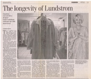 LINDA LUNDSTROM GLOBE AND MAIL 07. 05. 2005