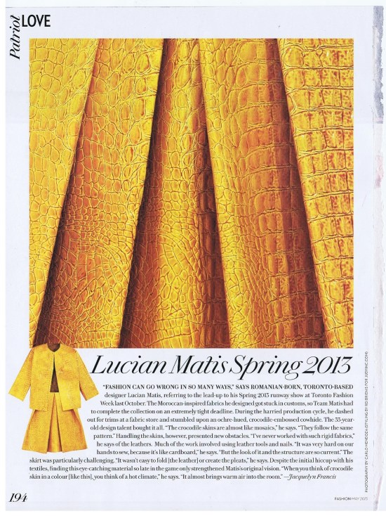 LUCIAN MATIS FASHION MAY 2013