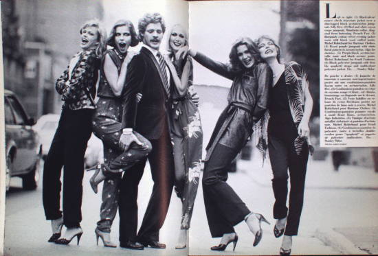 MICHEL ROBICHAUD CANADA FASHION MODE 1981