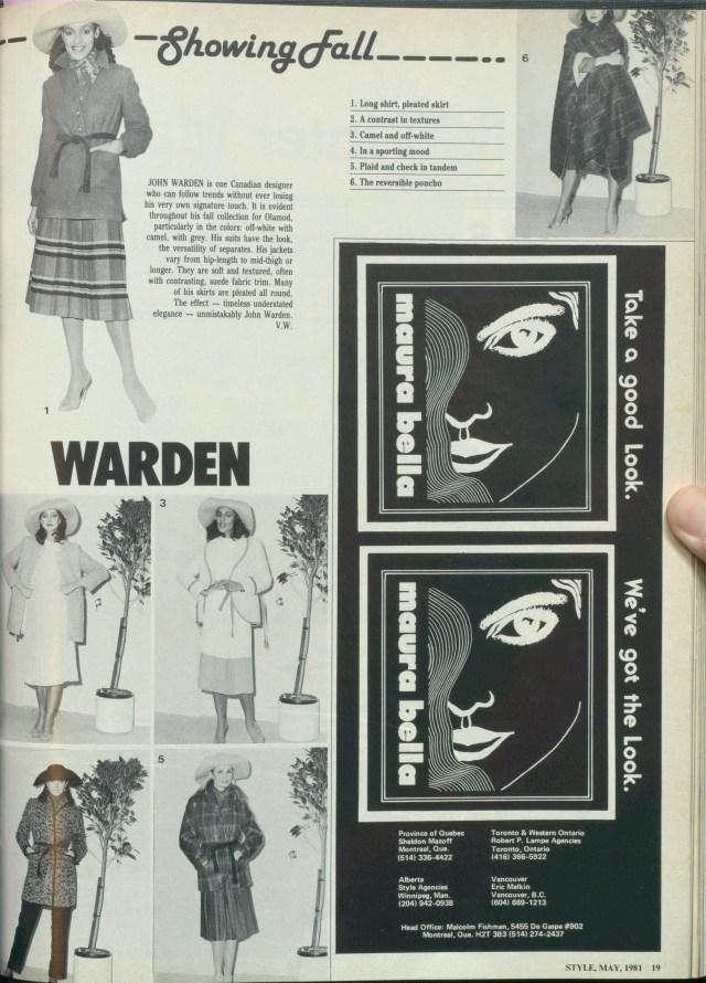 STYLE MAGAZINE MAY 1981