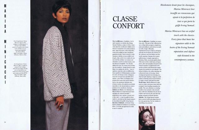MARISA MINICUCCI CREATEURS QUEBEC CLIN D'OEIL FALL WINTER 1993 1994
