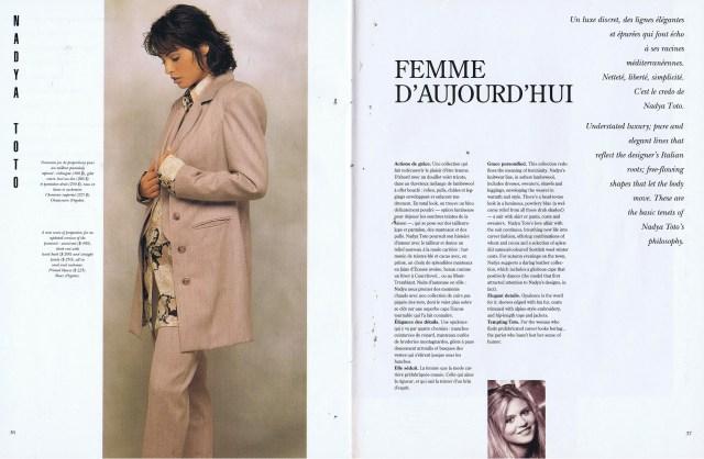 NADYA TOTO CREATEURS QUEBEC CLIN D'OEIL FALL WINTER 1993 1994