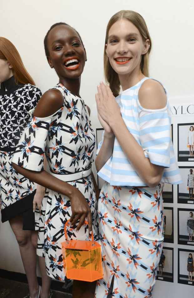 Models backstage at Taylor's spring 2015 show. Photo: Vivien Killilea/Getty Images