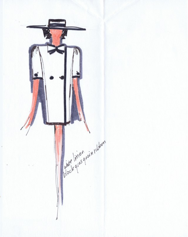 HUGH GARBER DESIGNERS ORIGINAL SKETCH 2/4 HGA