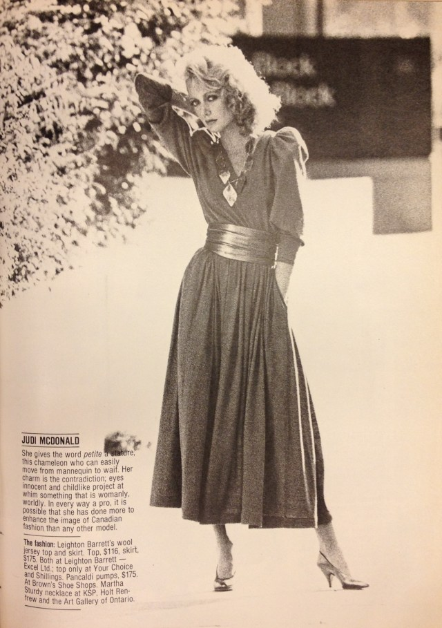 FASHION 1981 FALL MODELS JUDI MACDONALD LEIGHTON BARRETT