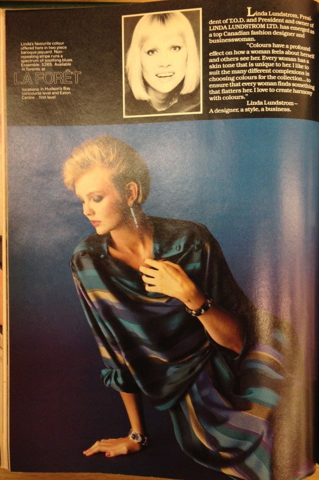 1983 FALL FASHION TOD 3 LINDA LUNDSTROM
