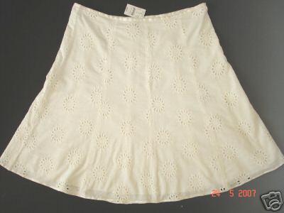 ann taylor eyelet skirt