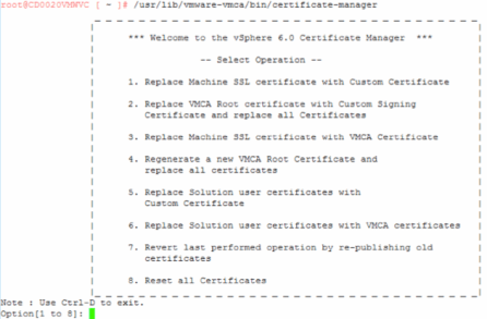 VMware Certificate Manager