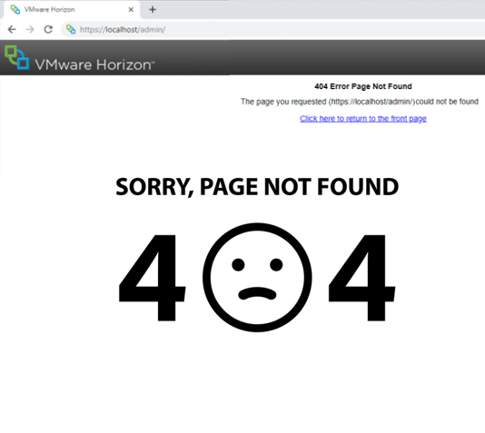 VMware Horizon connection server 404 error