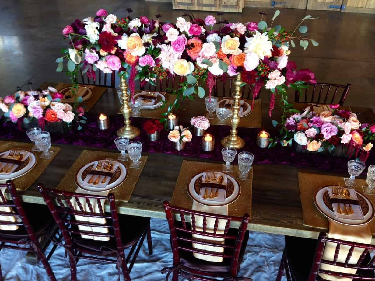 Burgundy Winter Wedding Shoot At Spruce Mountain Ranch