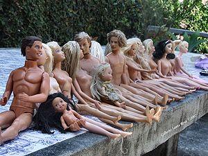 Nude Barbie dolls