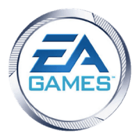 EA Games logo. The first use of the modern Ele...