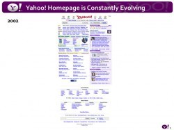 Yahoo home page 2002, via All Things D