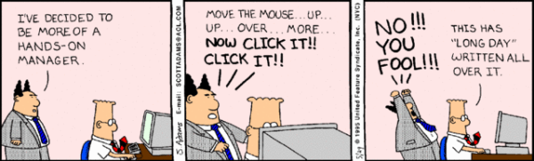 micro management dilbert