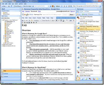 Harmony for Google Docs