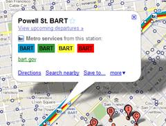 google maps bart