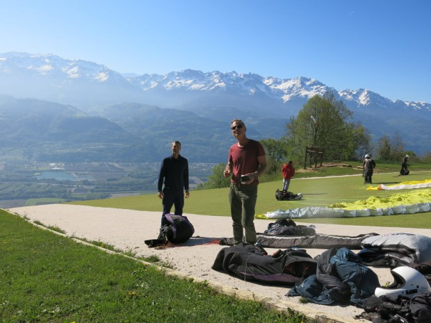 Bruce and Nate prep for launch in Annecy