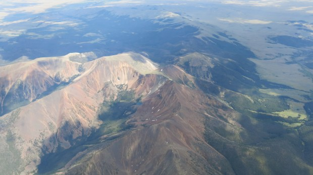 Big Beautiful mountains from 17,000 feet just outside of Butte, Montana