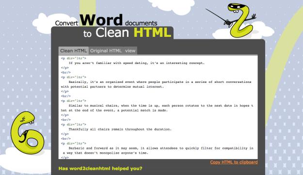 Tool_Word2CleanHTML