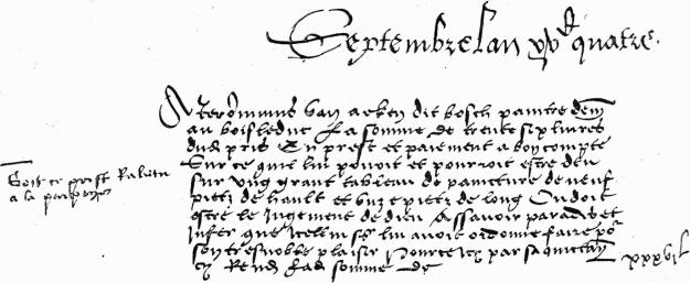 Philip I of Castile invoice