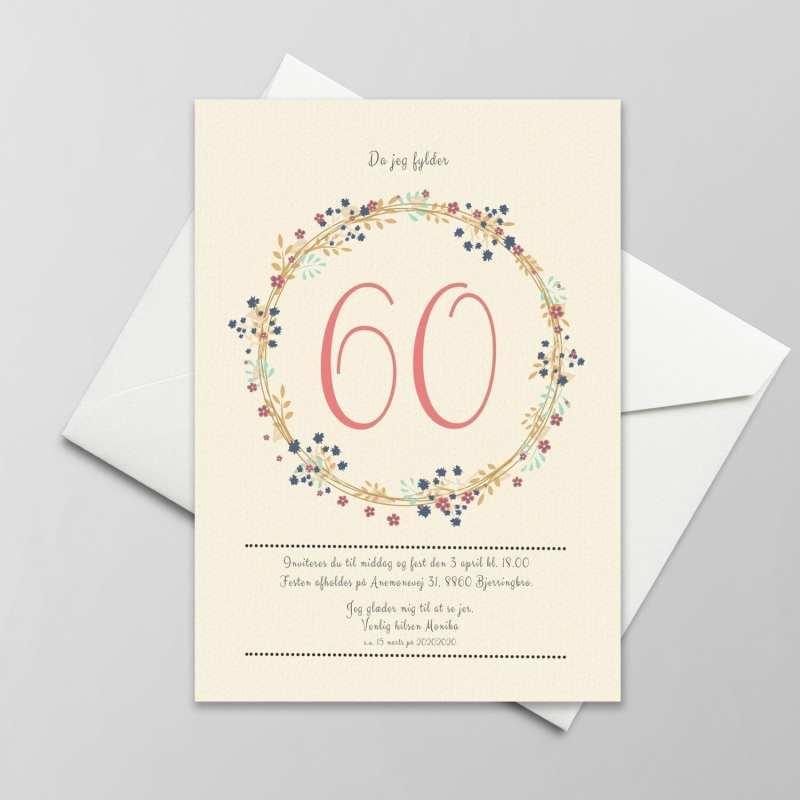 60 års fødselsdag invitation