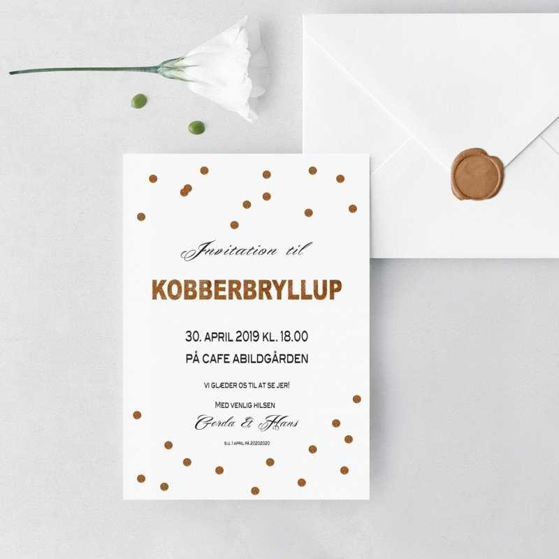 invitation til kobberbryllup