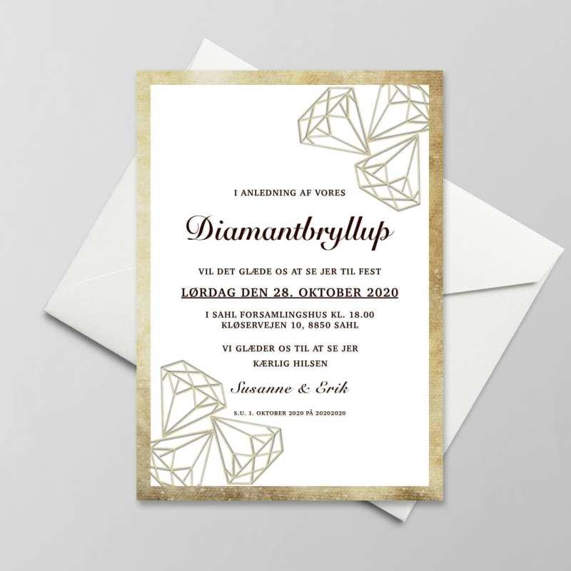 invitation diamantbryllup