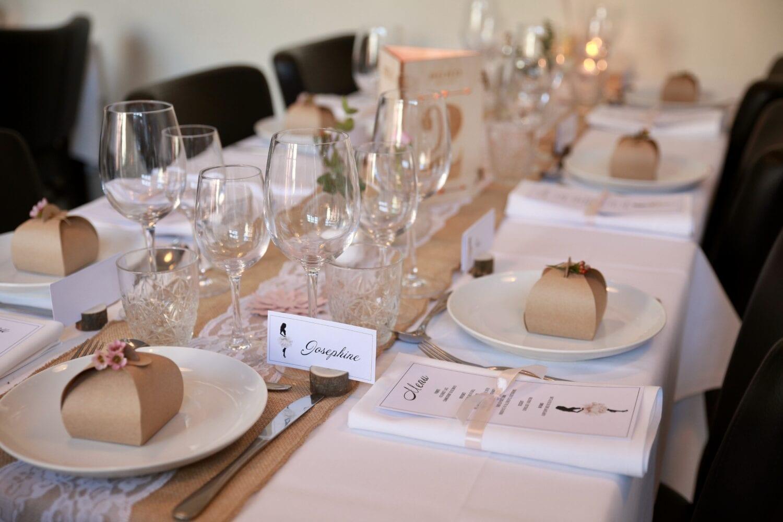 konfirmationsfest, borddækning