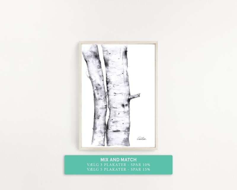 træer på plakat