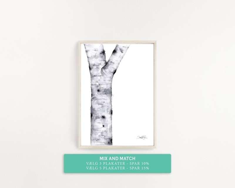 plakat med træ