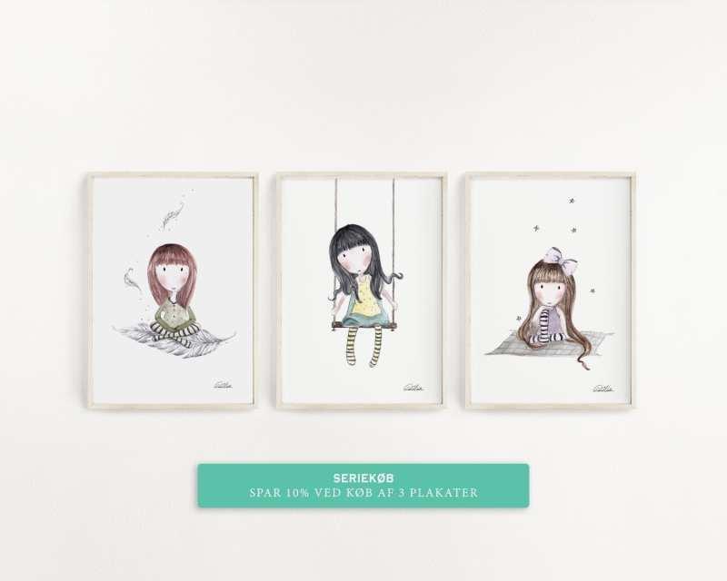 Plakater serie 3 piger