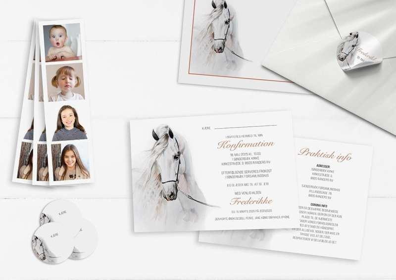 Watercolor Horse invitation konfirmation
